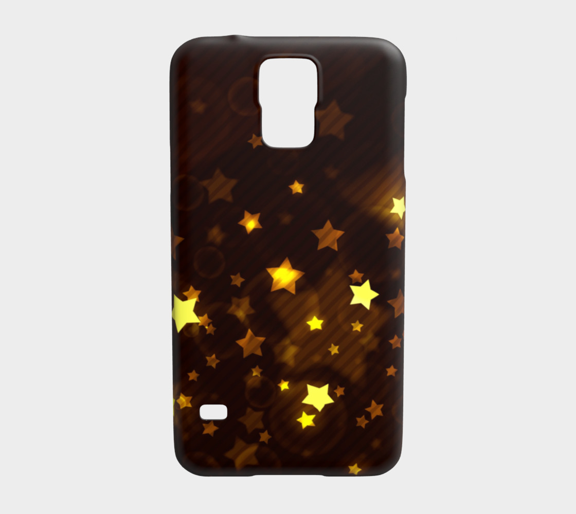 Glitter and Glow Sable Brown with Gold Stars preview #1