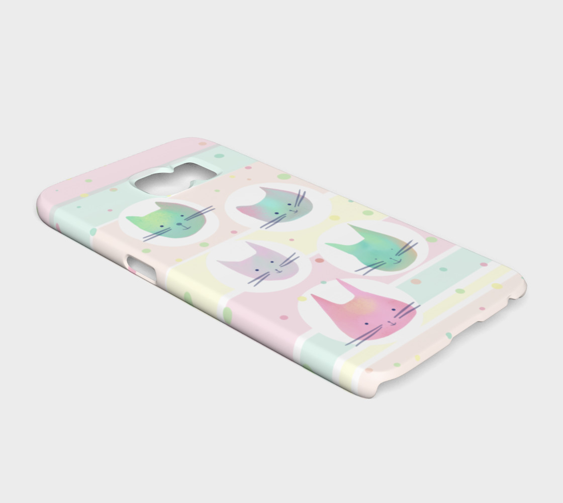 Pastel Cats Galaxy S6 Phone Case preview #2