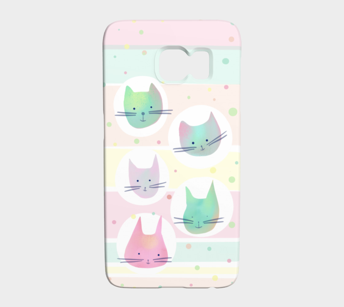 Pastel Cats Galaxy S6 Phone Case preview #1