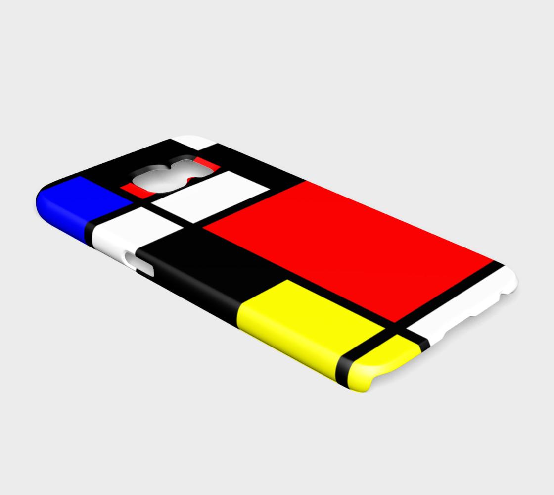 Aperçu de Mosaic DE STIJL Style black yellow red blue #2