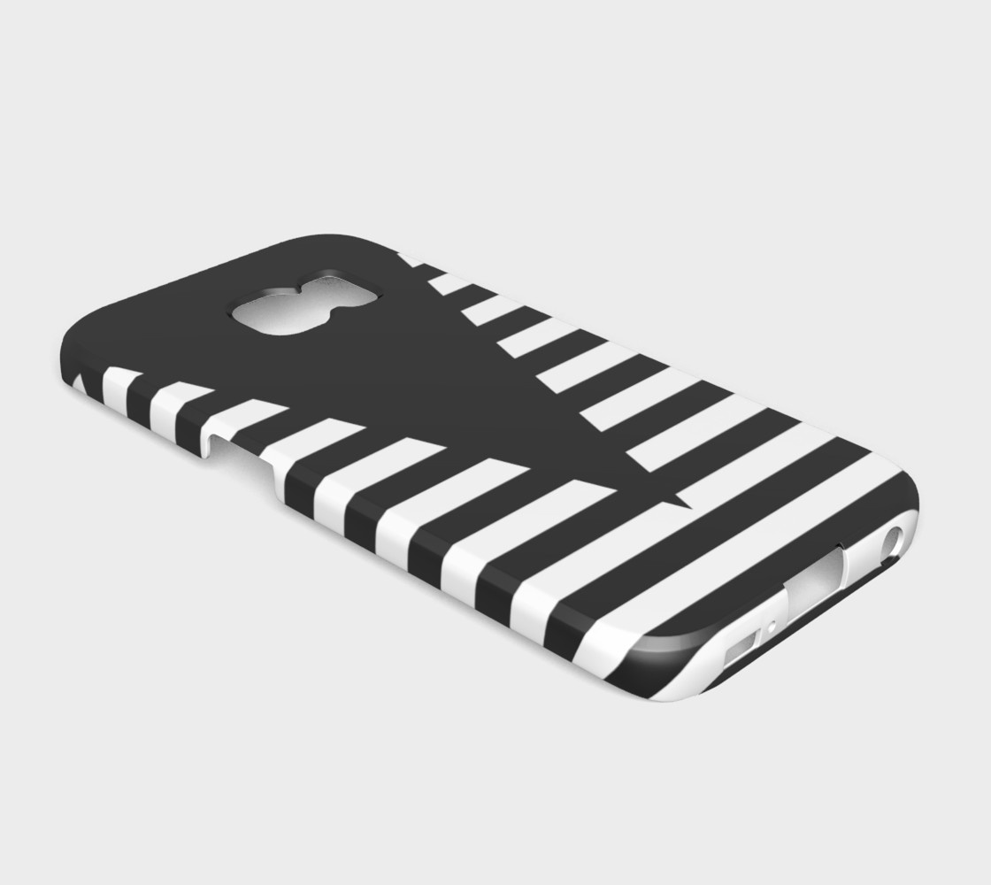 White Black Stripes Big Triangle galaxyS6edge preview #2
