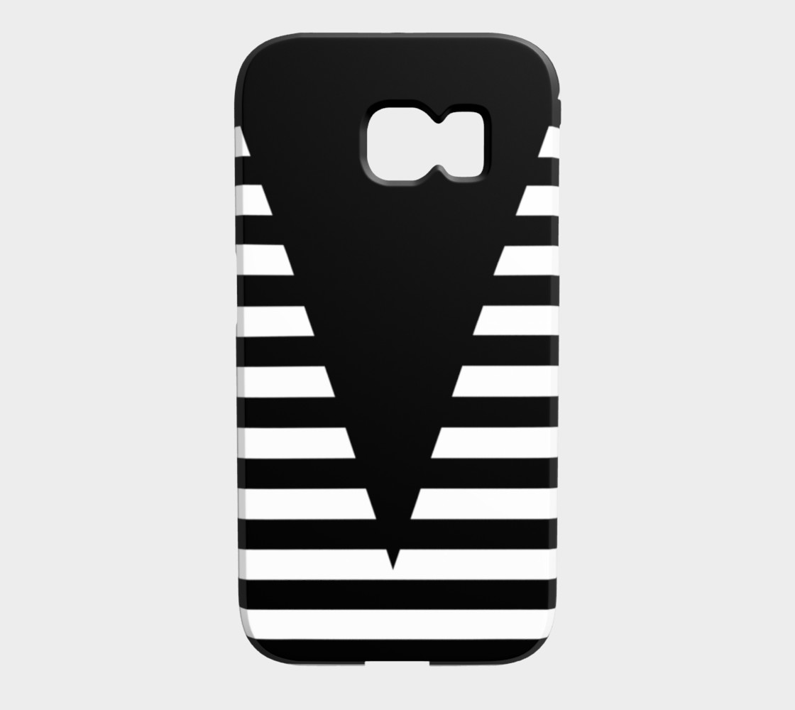 White Black Stripes Big Triangle galaxyS6edge preview #1