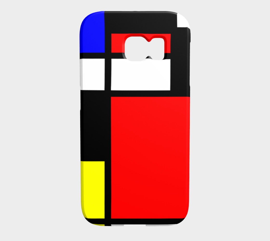 Mosaic DE STIJL Style black yellow red blue preview #1