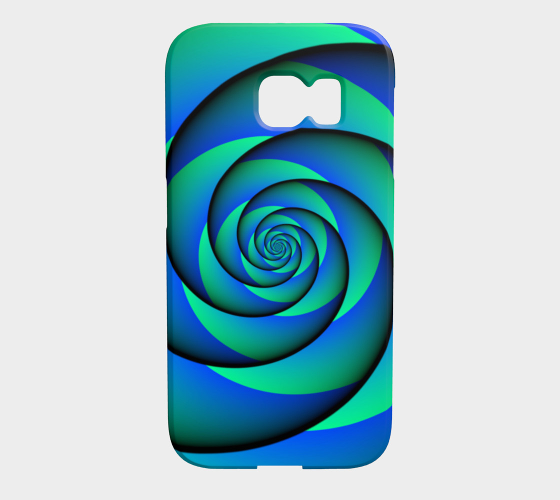 Power Spiral Waves Blue Green preview #1