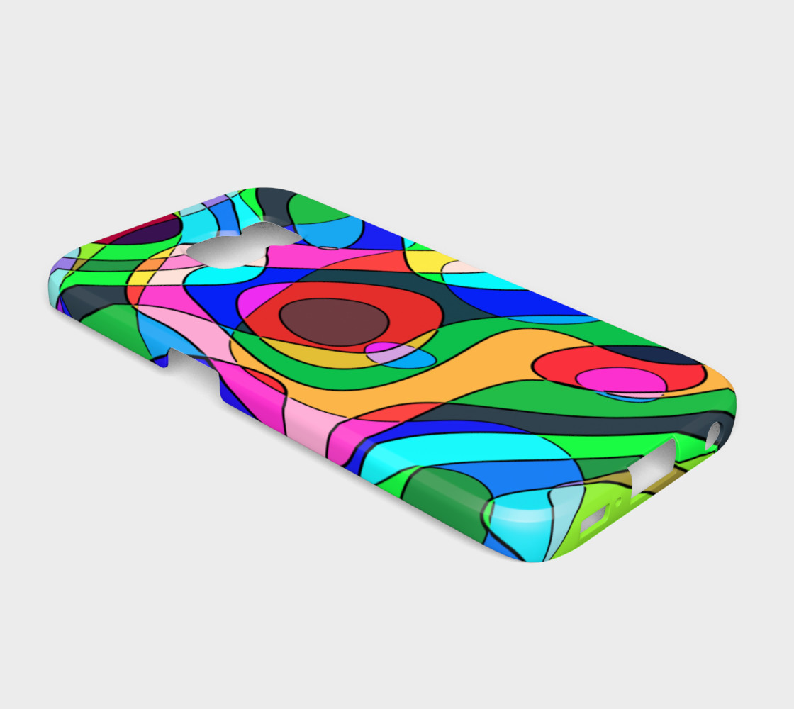 Modern POP ART Squiggly Loops multicolored preview #2