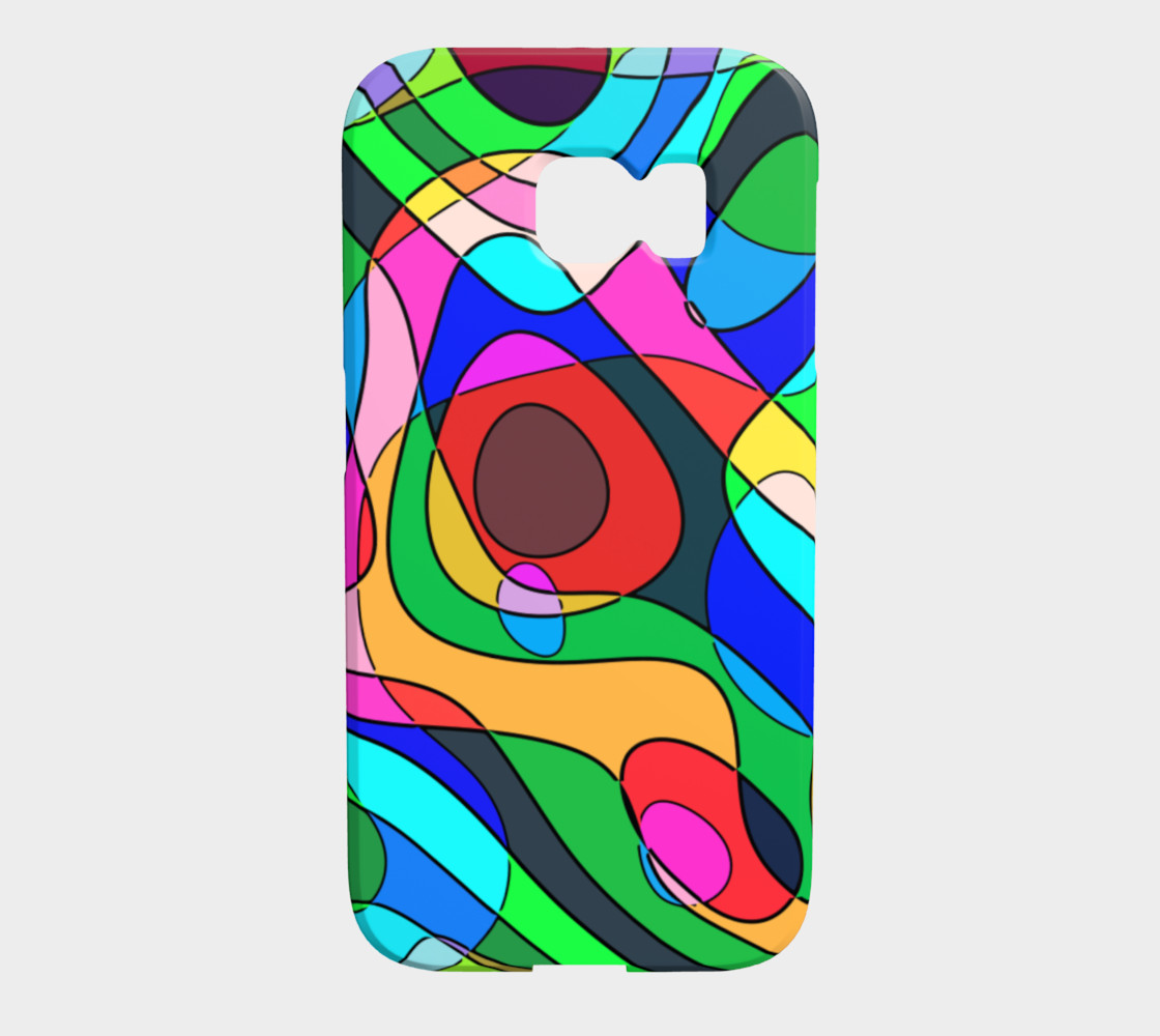 Modern POP ART Squiggly Loops multicolored preview #1