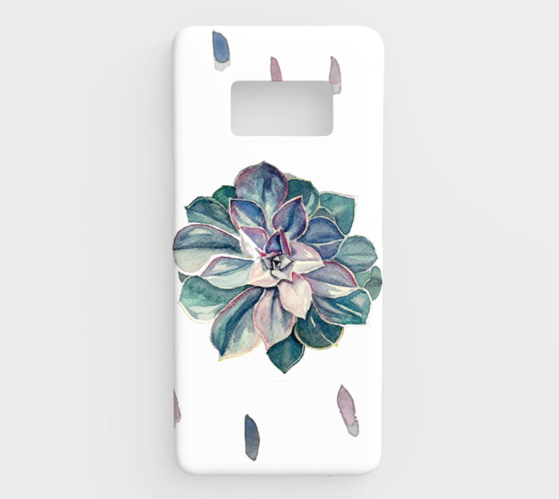 Aperçu de Watercolor Succulent Samsung S8 Cover (Cool Palette) #1