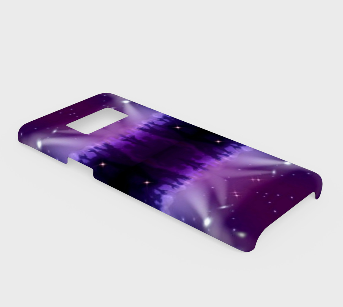 Purple and Blue Burst Samsung Galaxy S8 Phone Case preview #2