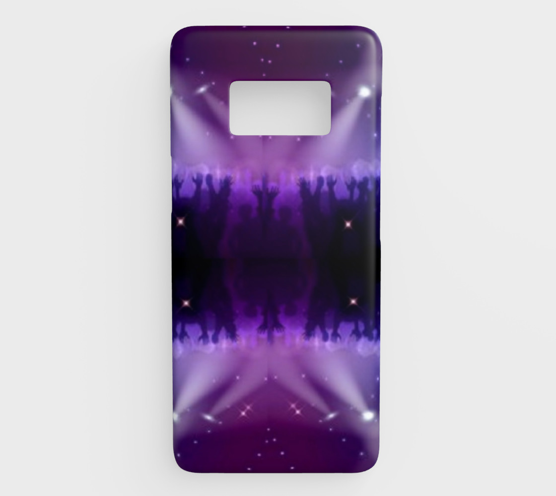 Purple and Blue Burst Samsung Galaxy S8 Phone Case preview #1