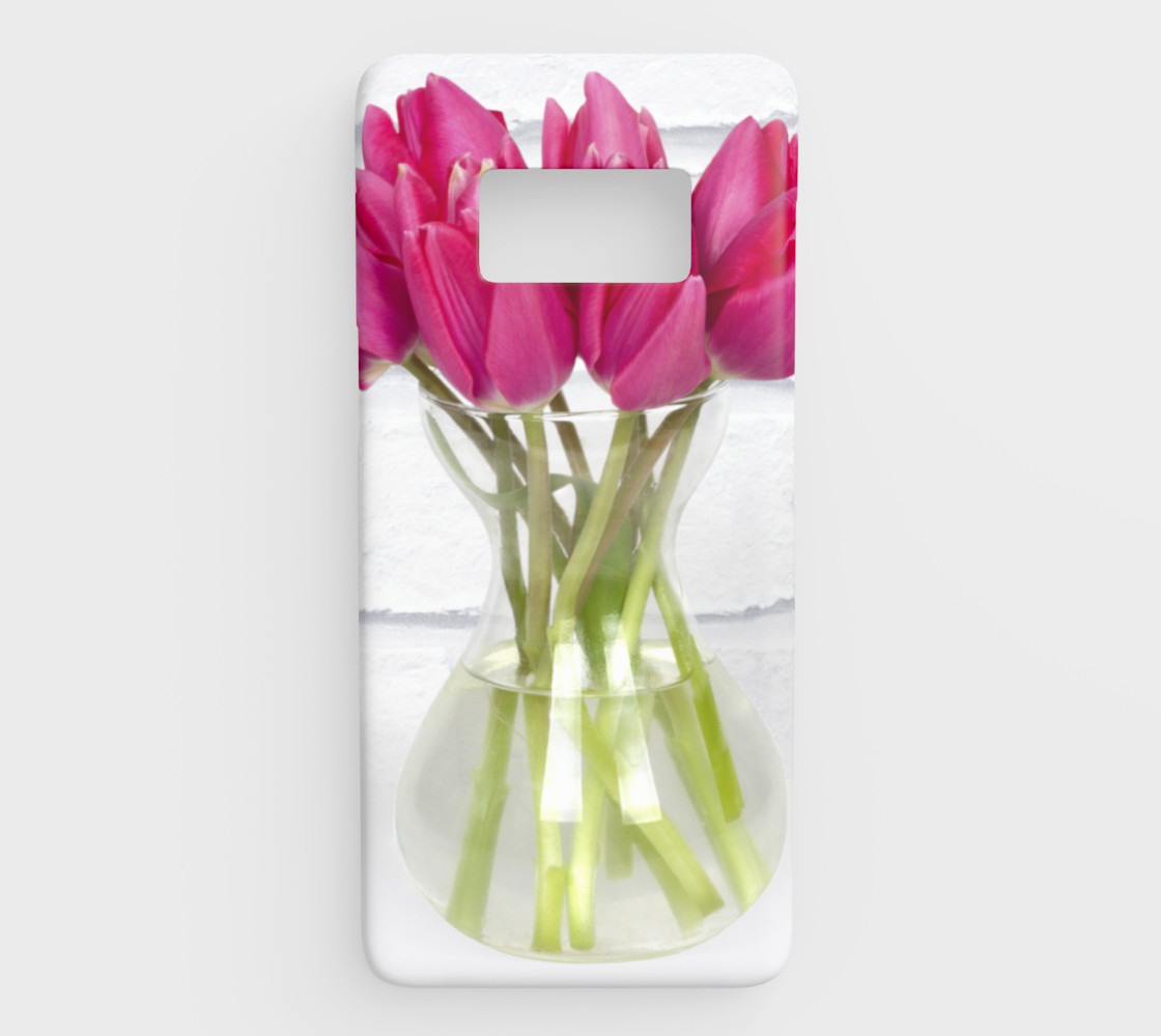Vase of pink tulips preview #1