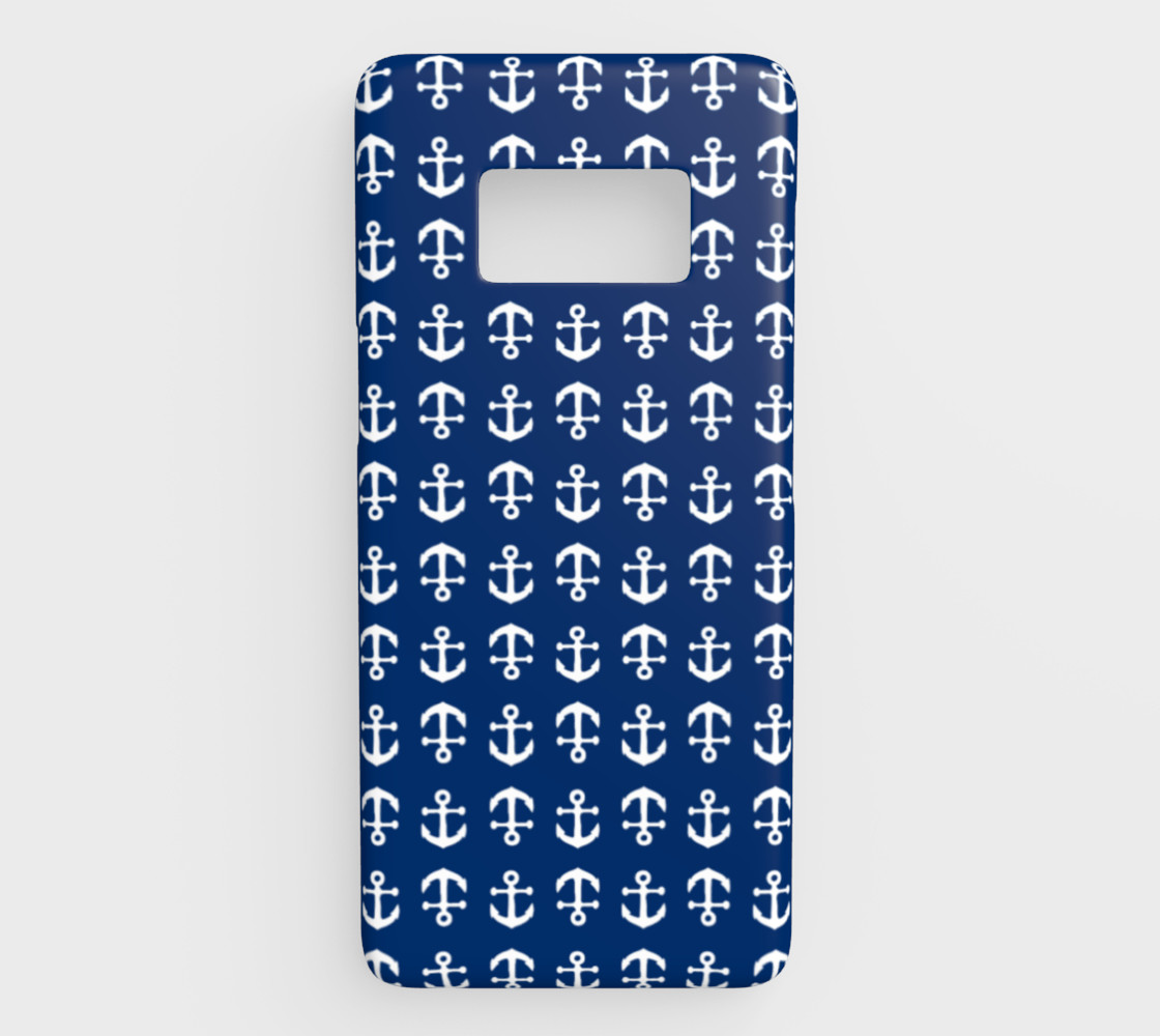 Anchor Toss - White on Navy preview #1