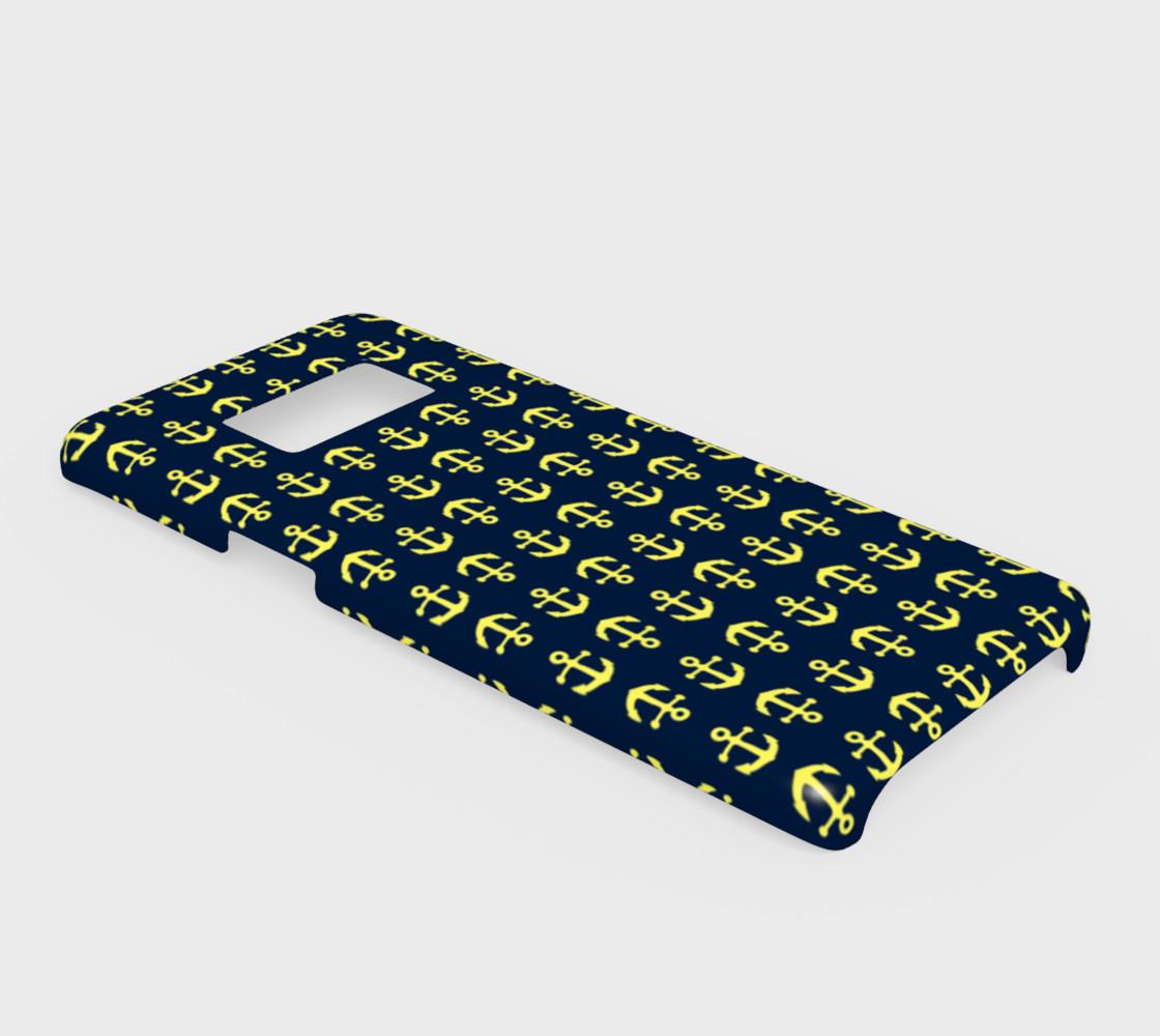 Aperçu de Anchor Toss - Yellow on Navy #2