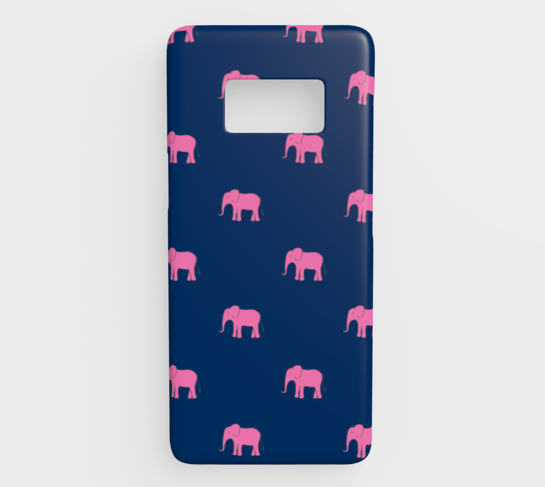 Elephant - Pink on Navy preview #1
