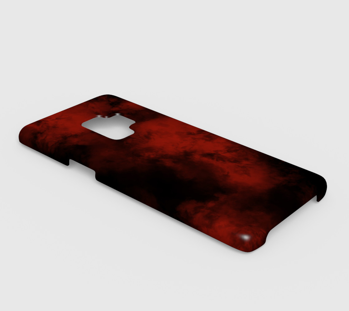 Red Smoke Galaxy S9 Cover 2 preview #2