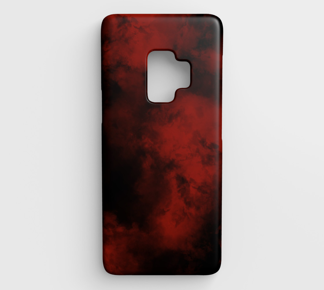 Red Smoke Galaxy S9 Cover 2 preview #1