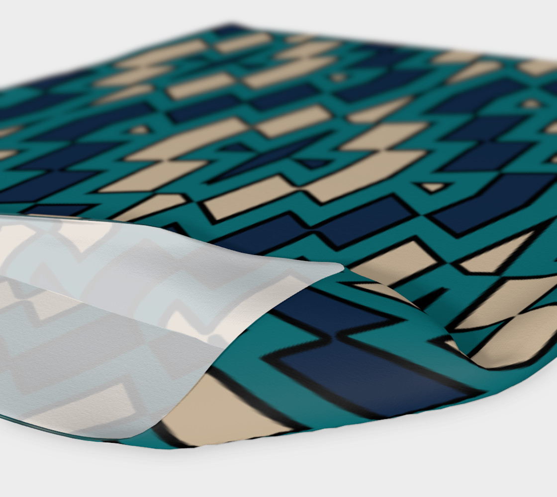 Tribal Diamond Pattern in Navy, Teal and Tan preview #4