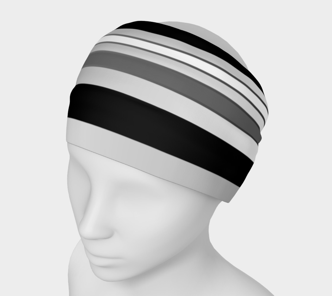 Ombre Stripes in Black, White and Gray preview #1