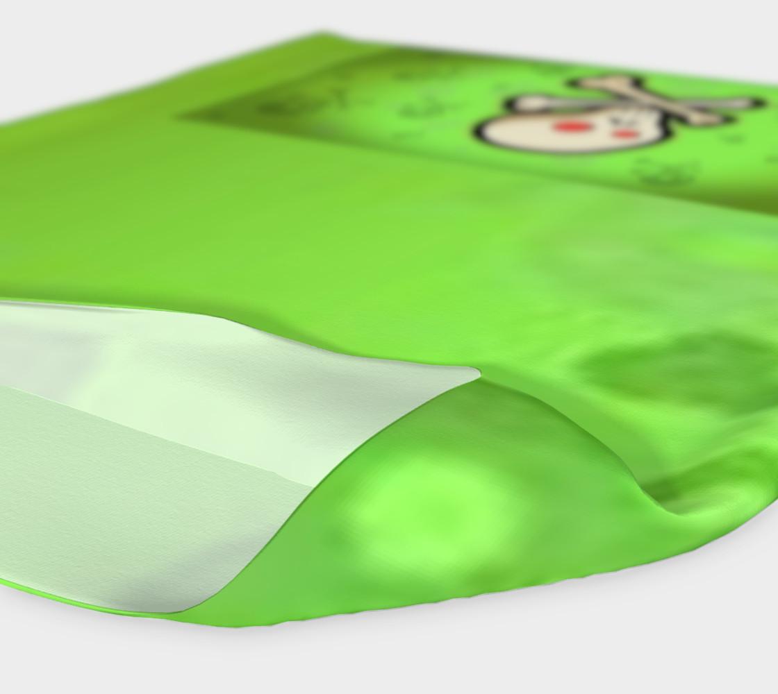 Cartoon Skull On Green Headband preview #4
