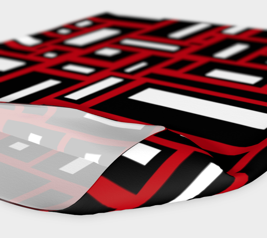 Simple Geometric in Black, White and Red 1 Miniature #5
