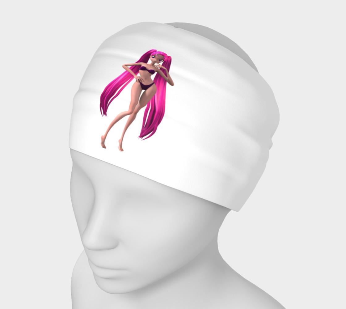 Purple Hair Anime Girl Headband preview #1