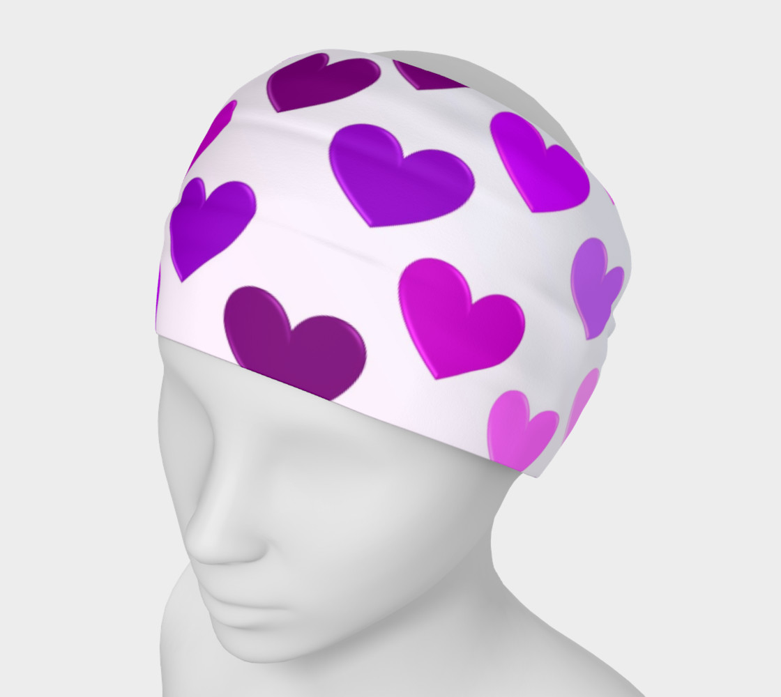 Purple Hearts Headband preview #1