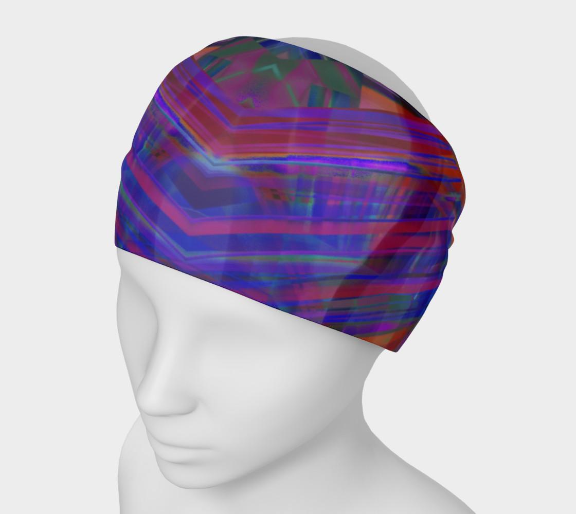 Aperçu de Tartan Cliffs Blues and Reds Headband #1