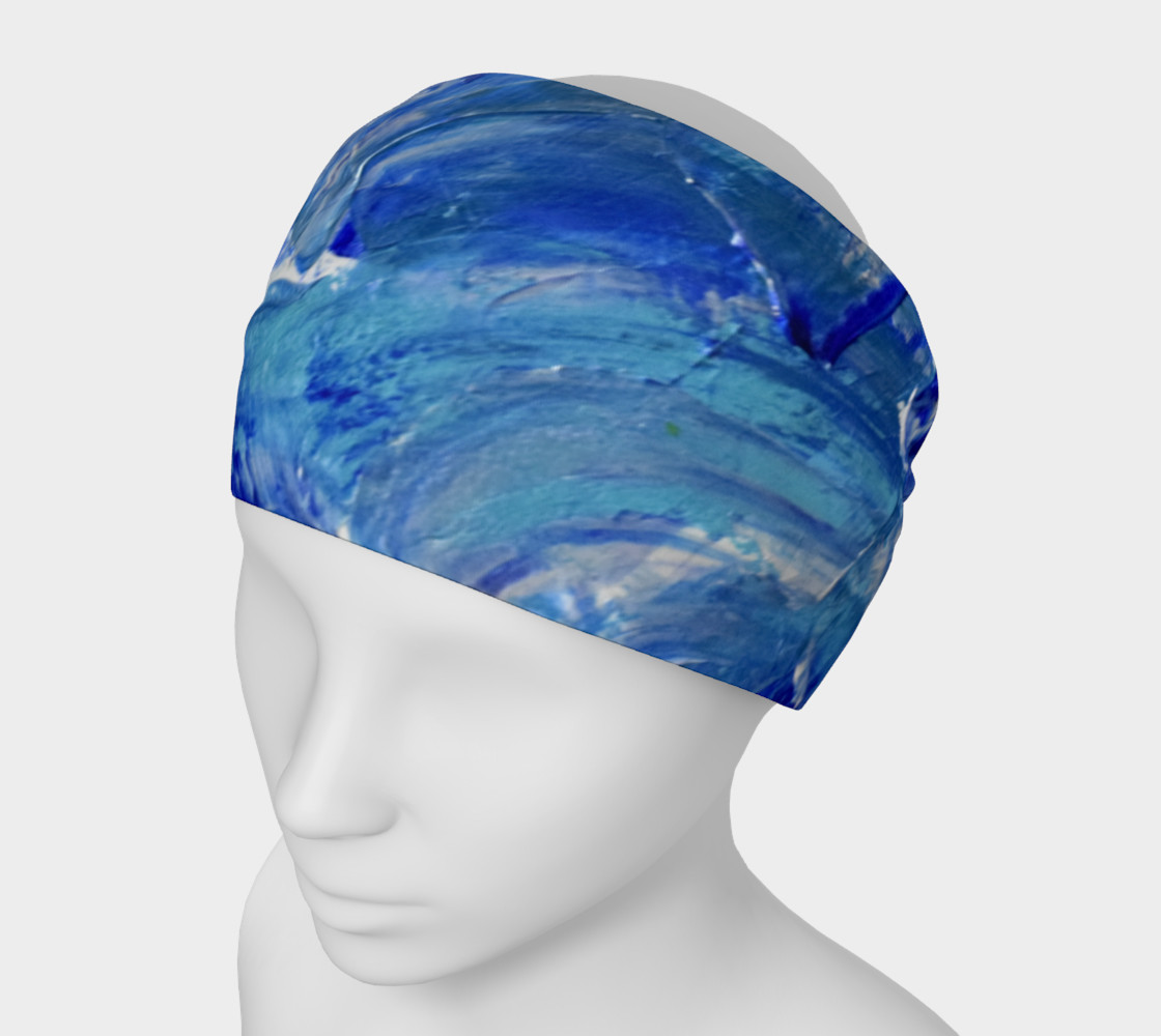 Headband or Scarf: Shimmer Waves Swooshes Art by Janet Gervers preview #1