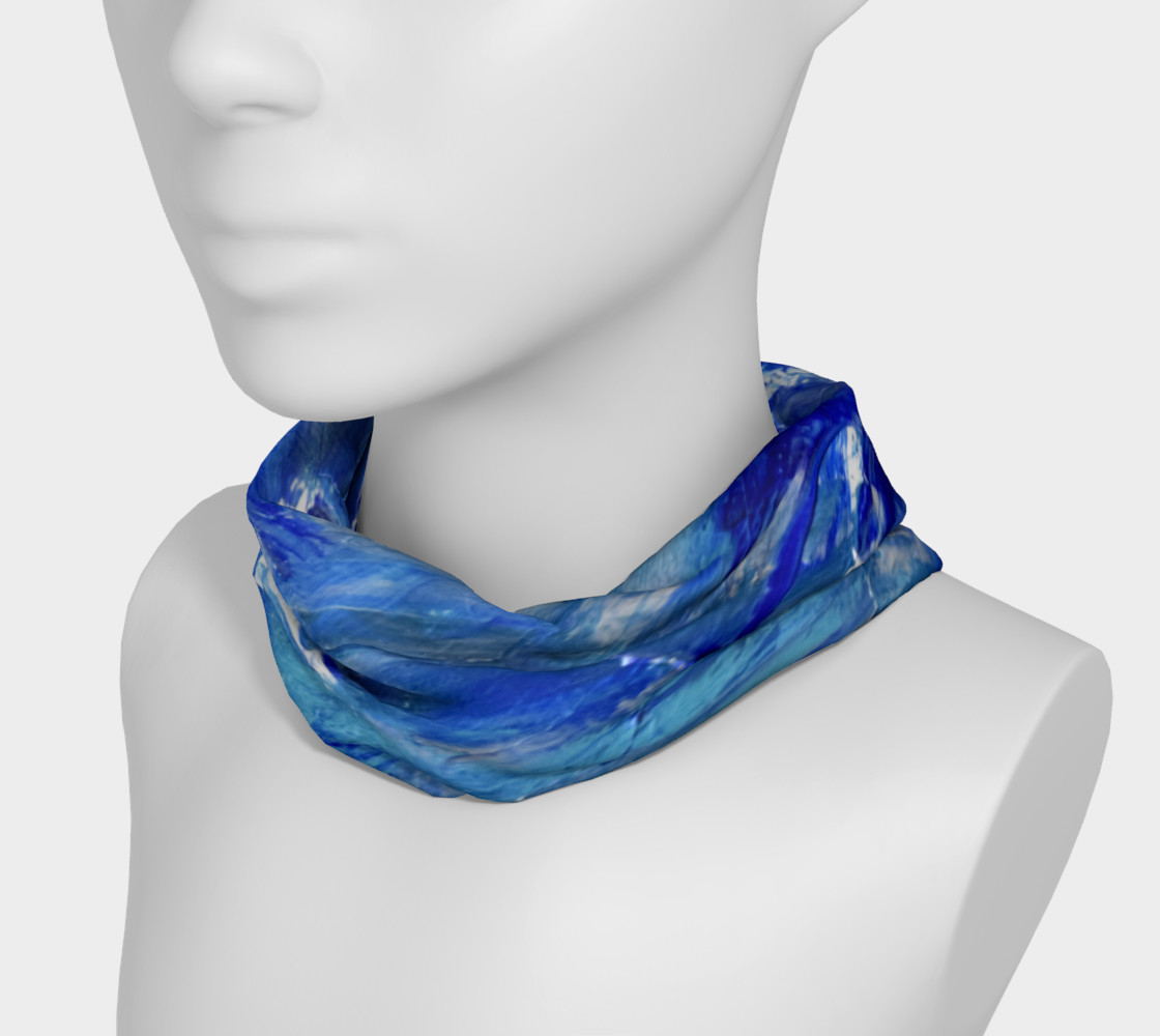 Headband or Scarf: Shimmer Waves Swooshes Art by Janet Gervers preview #3