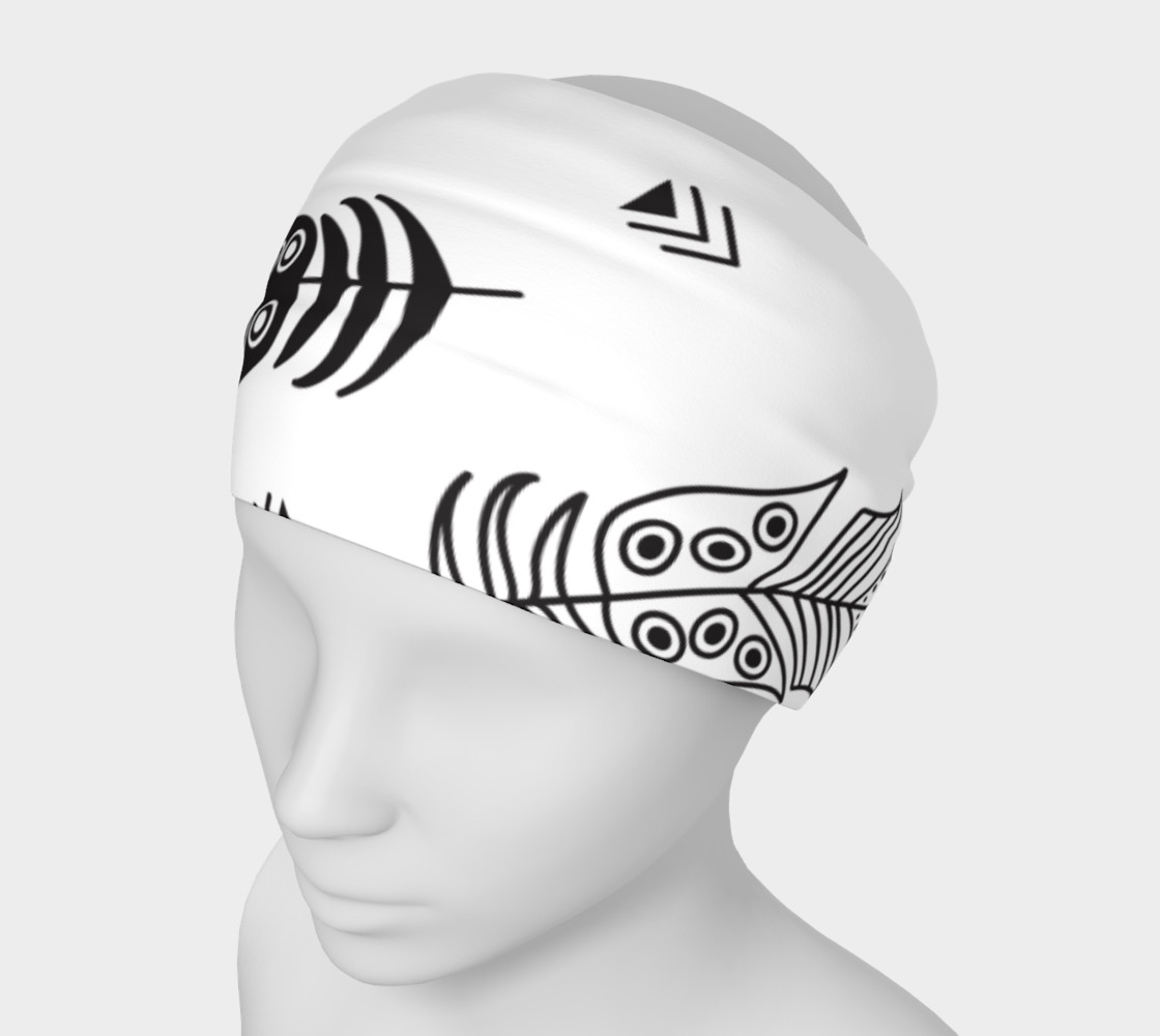 Black & White Feather Headband preview #1