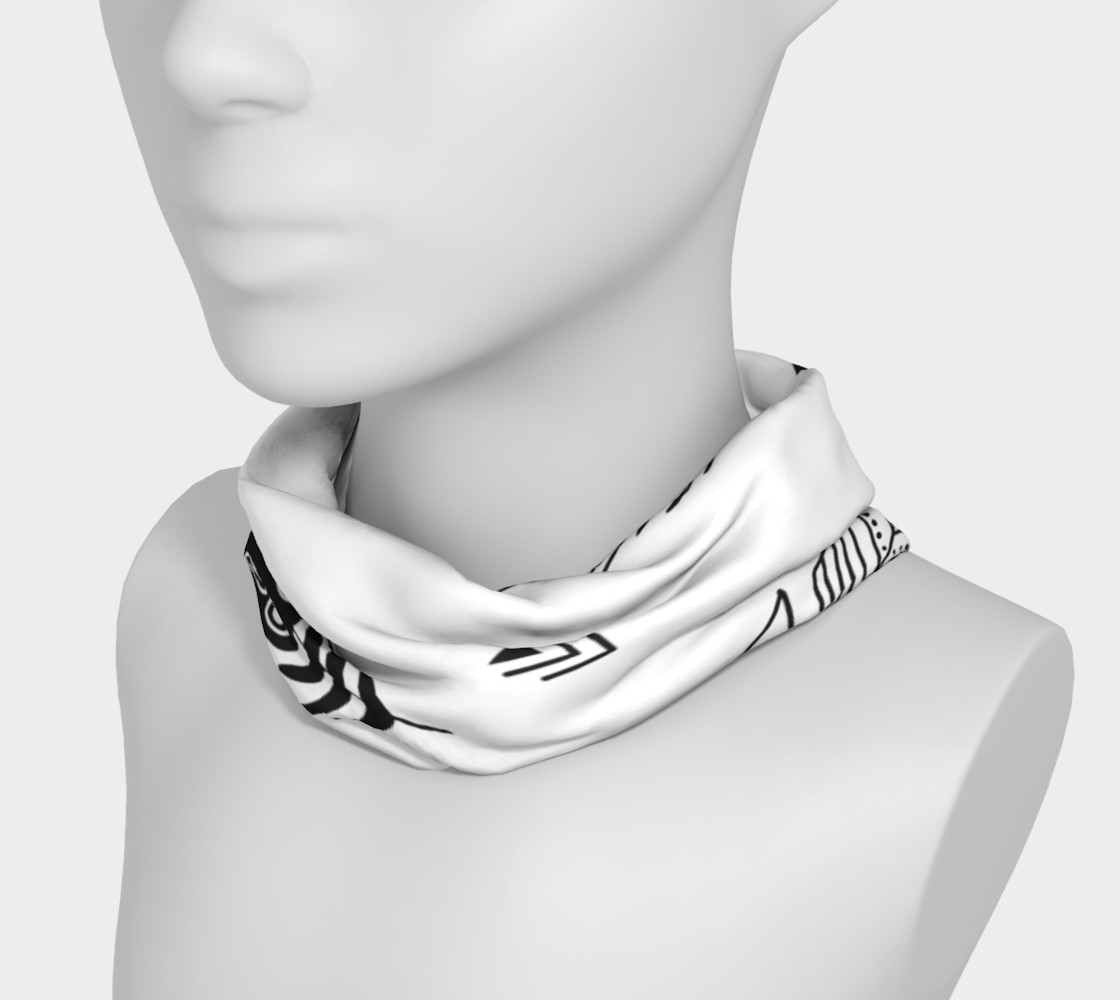 Black & White Feather Headband preview #3