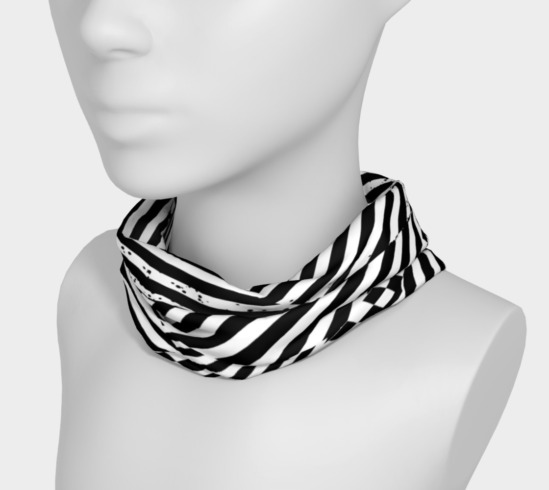 Black White Patchwork Stripes Checkerboard Headband preview #3