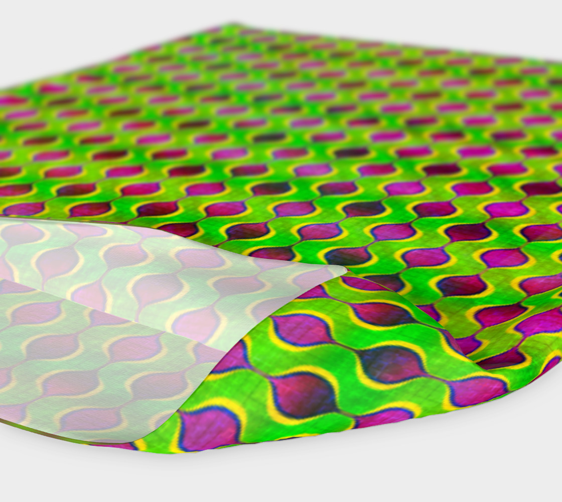 Fun Bright Green Purple Ogee Pattern Headband preview #4