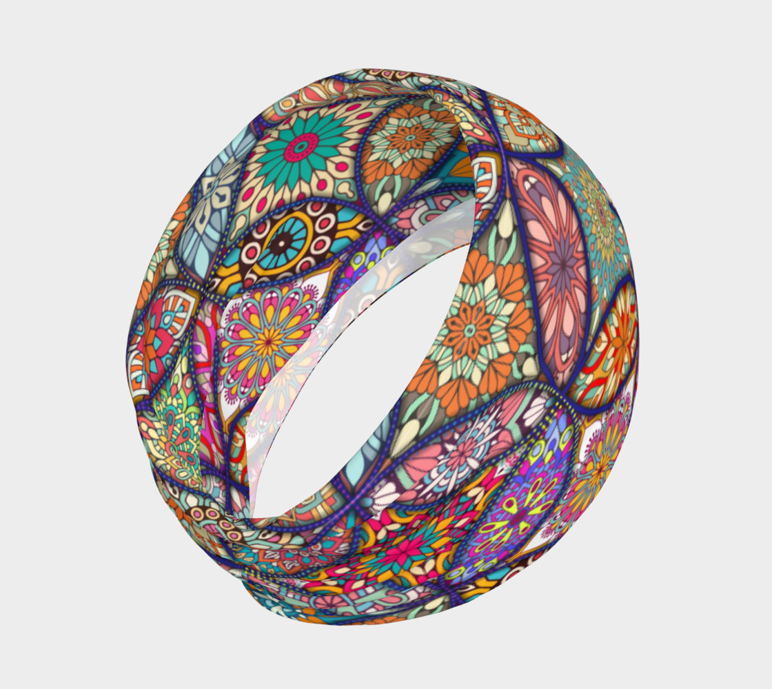 Vibrant Mandalas Headband preview #2