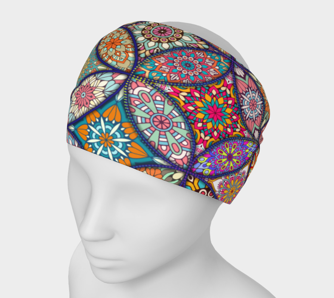 Vibrant Mandalas Headband preview #1