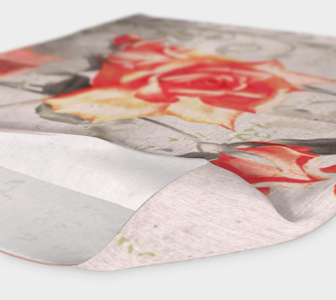 Aperçu de Vintage Red Grey Rose Floral Headband #4
