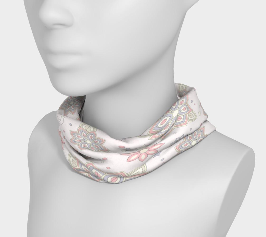 Aperçu de Pastel Pink Ivory Purple Abstract Flower Headband #3