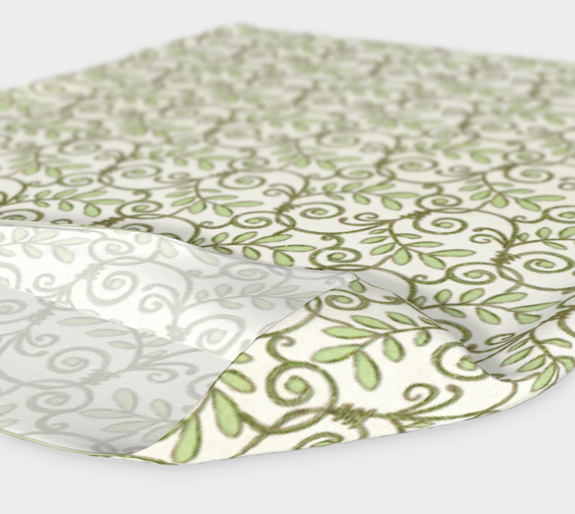Green Cream Leafy Lace Floral Headband preview #4
