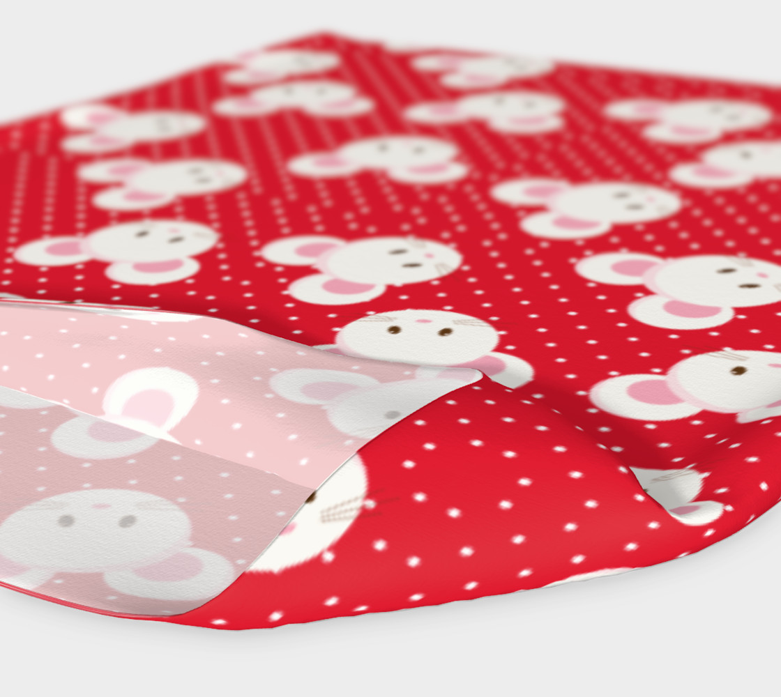 Red Polka Dot Mouse Headband preview #4