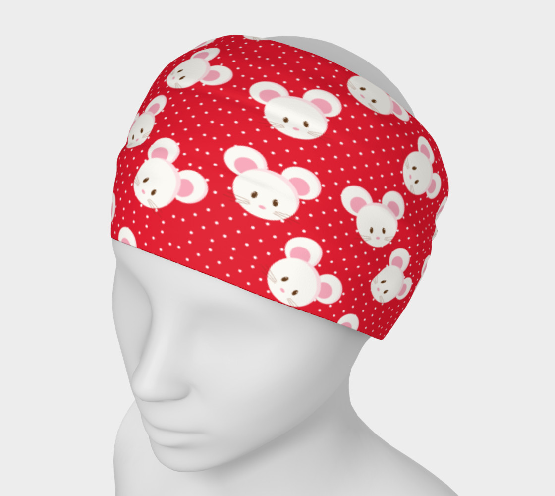 Red Polka Dot Mouse Headband preview #1
