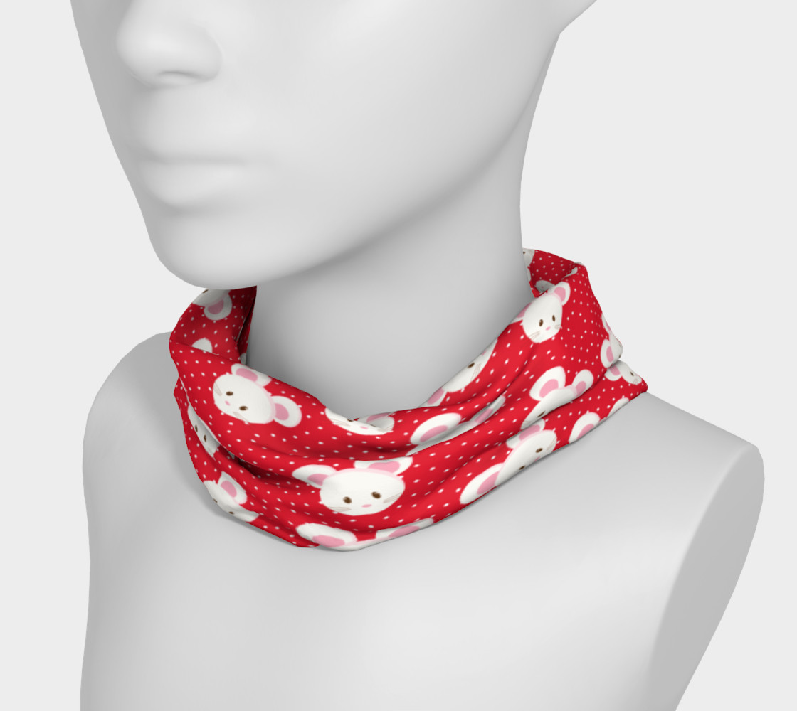 Red Polka Dot Mouse Headband preview #3