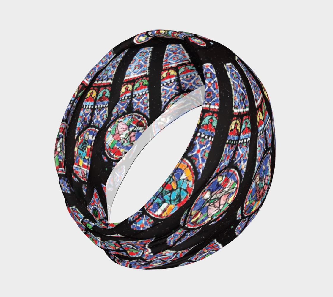 Rose South Window, Notre Dame Paris Headband preview #2