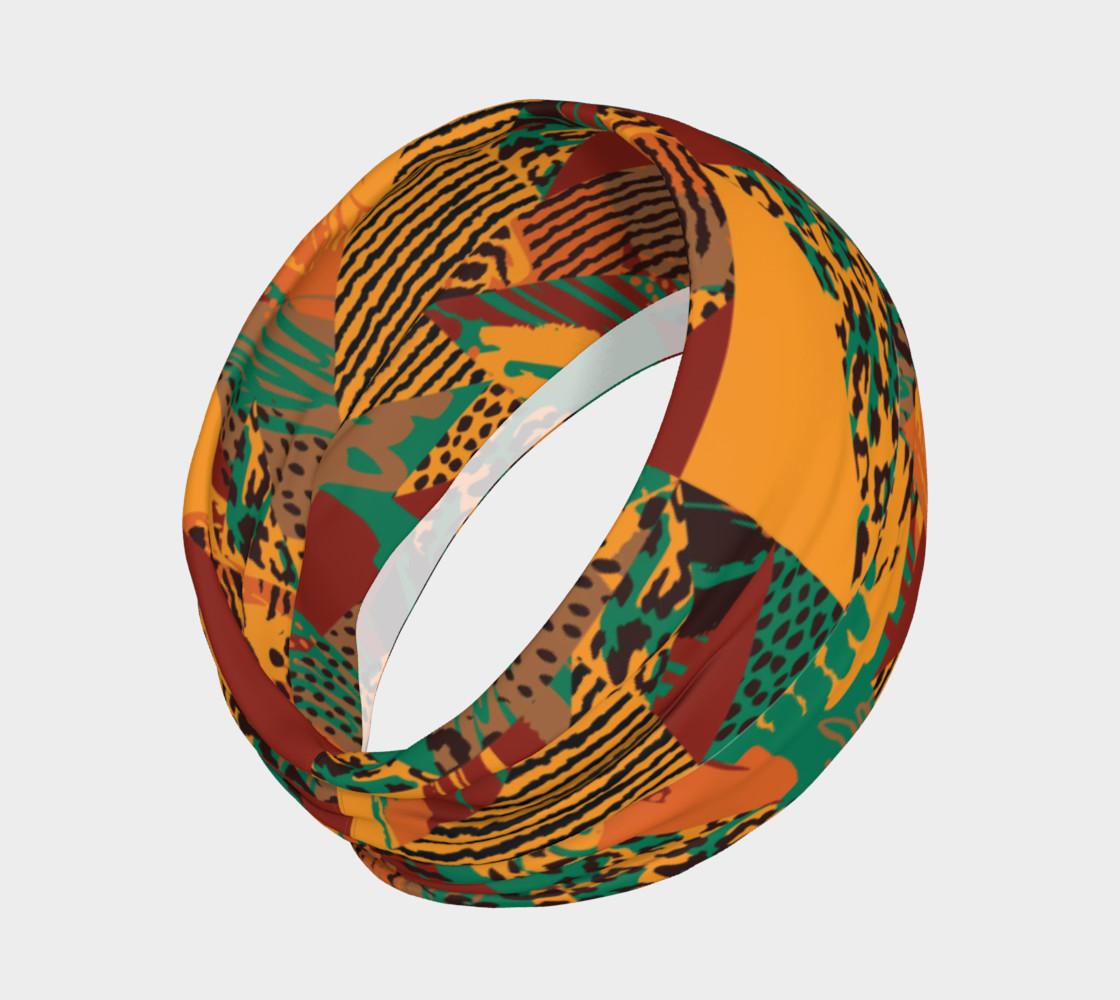 Abstract Safari Print Headband preview #2