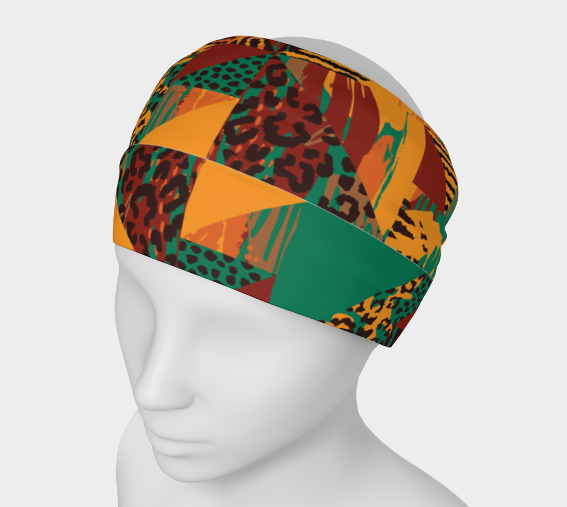 Abstract Safari Print Headband preview #1