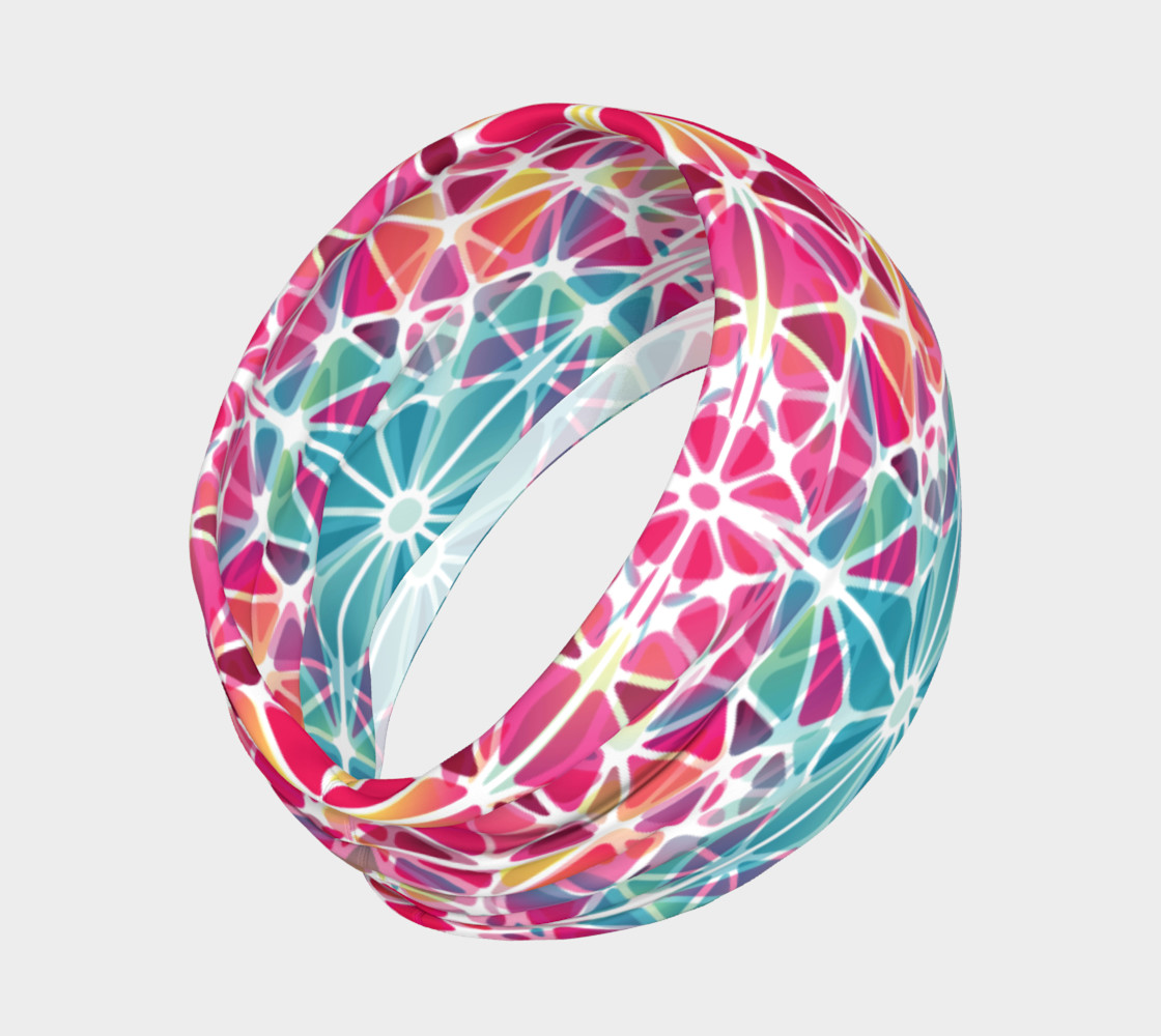 Pink and Blue Kaleidoscope Headband preview #2