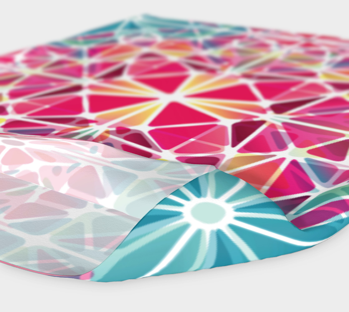 Pink and Blue Kaleidoscope Headband preview #4