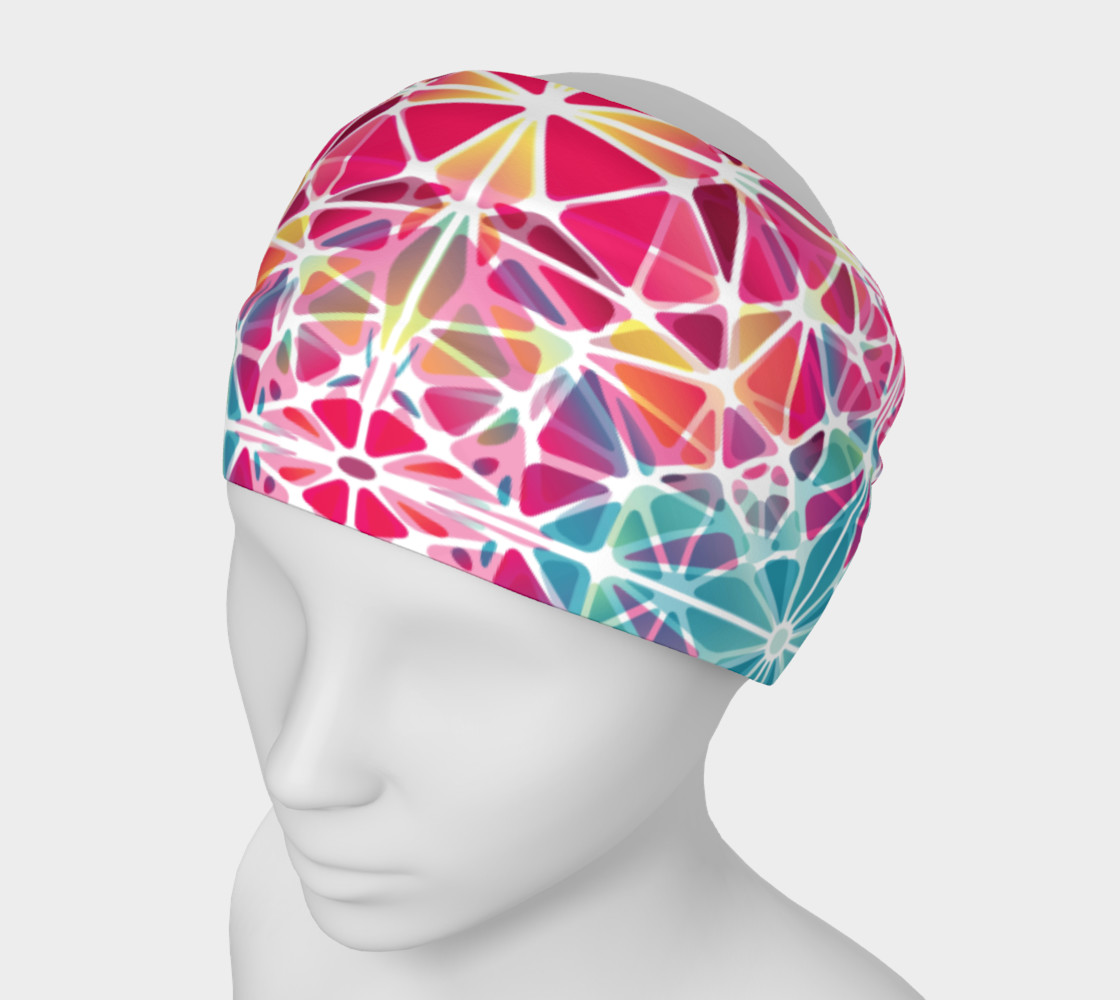 Pink and Blue Kaleidoscope Headband preview #1