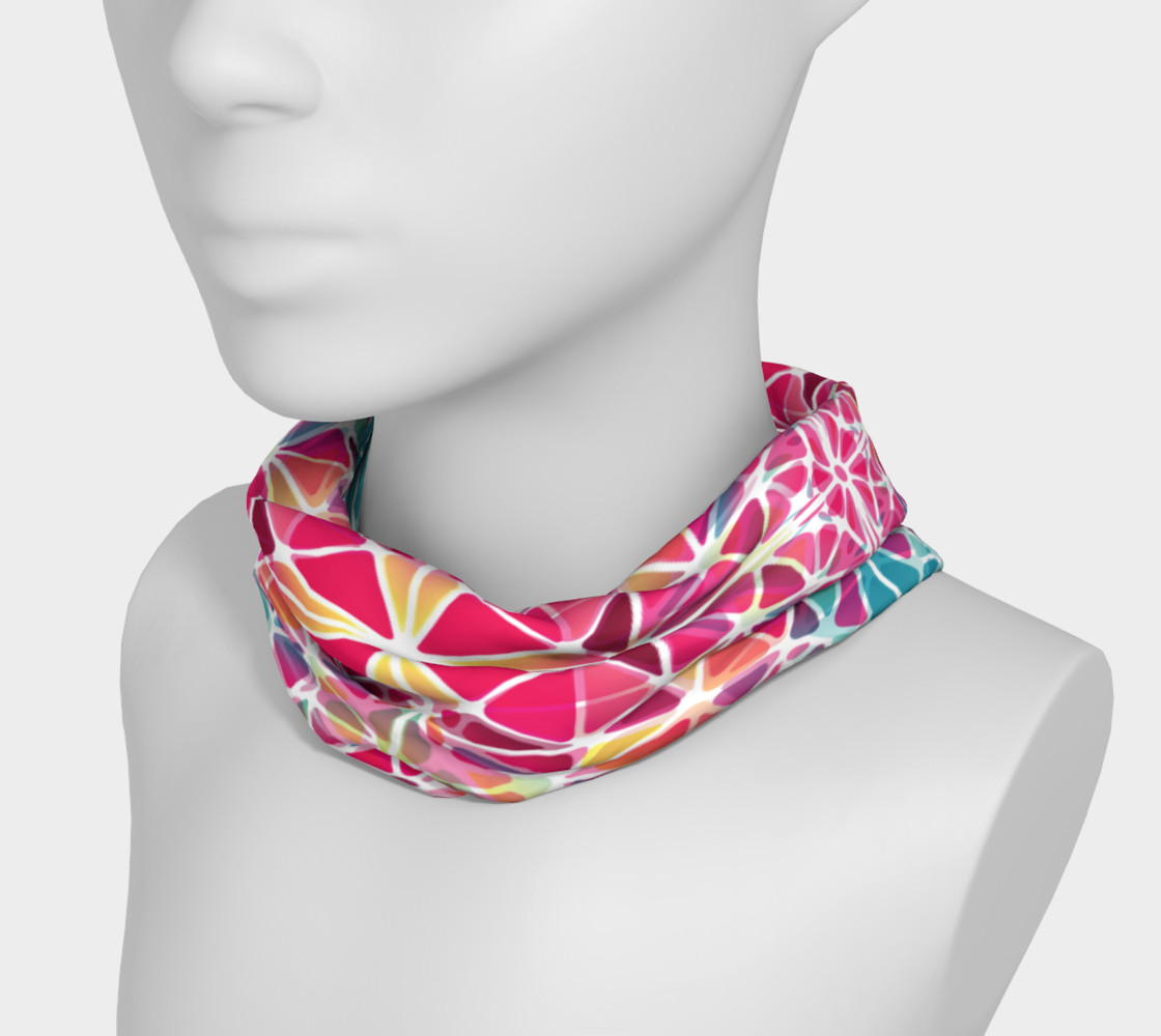 Pink and Blue Kaleidoscope Headband preview #3
