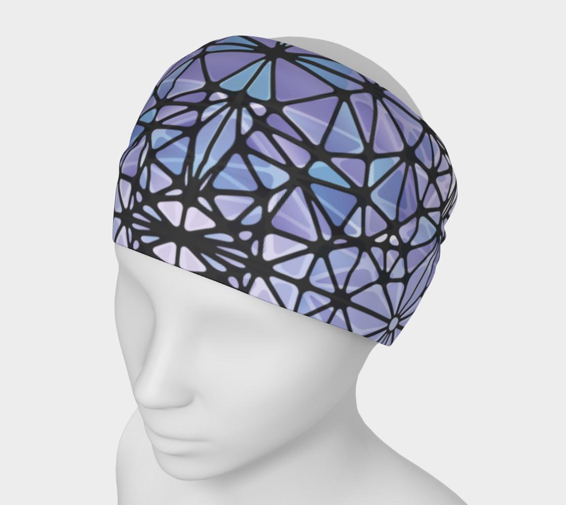 Purple and Blue Kaleidoscope Headband preview #1