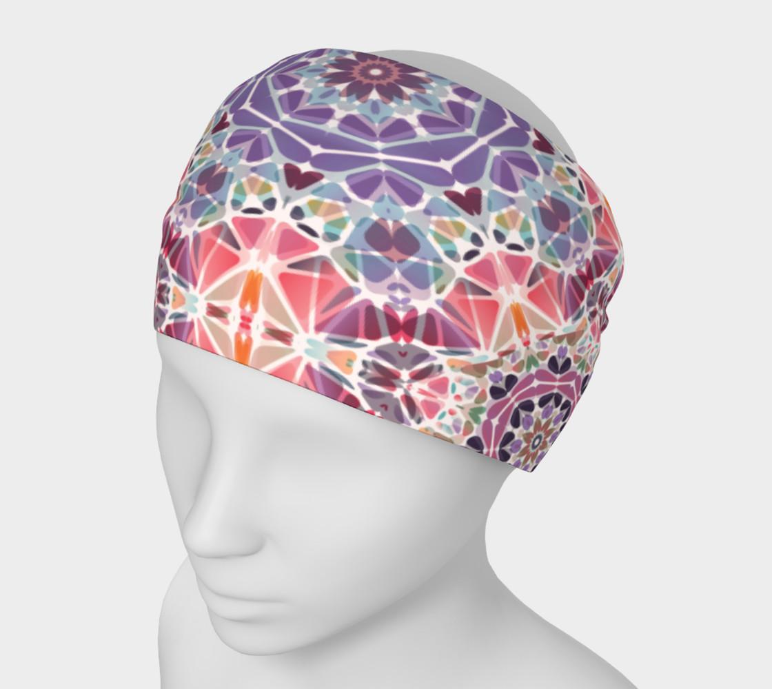 Purple and Pink Kaleidoscope Headband preview #1