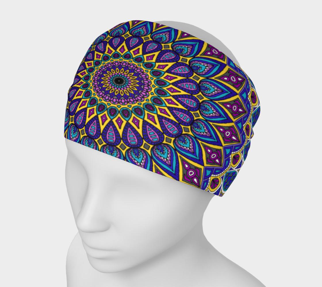 Aperçu de Sapphire Mandala Headband #1